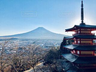 雄大な富士山の写真・画像素材[1725210]