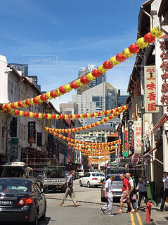 シンガポールのチャイナタウンにての写真・画像素材[1725580]