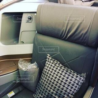 シンガポール航空ビジネスクラスフルフラットの写真・画像素材[1726284]