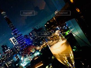 夜の街の景色の写真・画像素材[1726860]