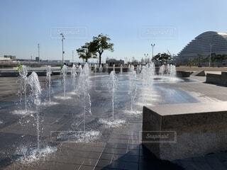 綺麗な噴水の写真・画像素材[1691170]
