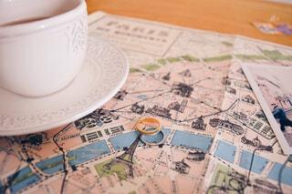 パリの地図の写真・画像素材[1694654]
