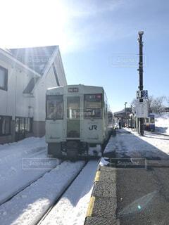 雪に覆われた鉄道の写真・画像素材[1726727]