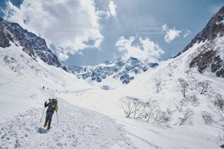 雪山登山の写真・画像素材[1686930]