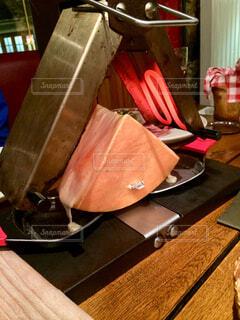 木製テーブルの写真・画像素材[1687421]