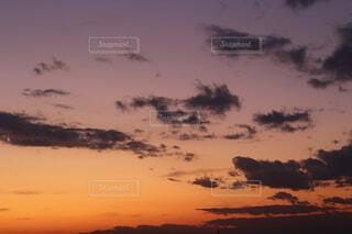秋の夕暮れ。の写真・画像素材[2729030]