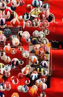 手毬の吊り飾りの写真・画像素材[1862046]
