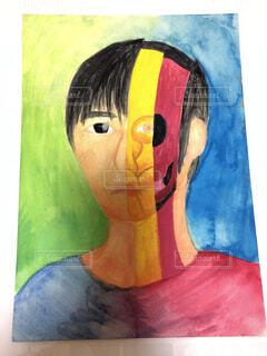 中学生の自画像の写真・画像素材[1877447]