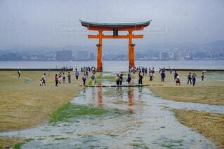 厳島神社うぃ訪れる人々の写真・画像素材[1689188]