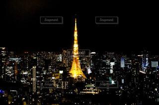 東京タワーと夜景の写真・画像素材[1695119]
