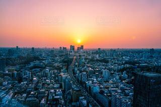 ピンクの夕日の写真・画像素材[1791516]