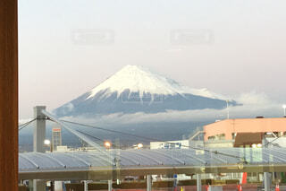 12月の富士山の写真・画像素材[1688602]
