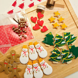 食べ物,かわいい,プレゼント,おやつ,クリスマス,雪だるま,クッキー,手作り,アイシングクッキー