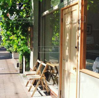 カフェの入り口の写真・画像素材[755907]