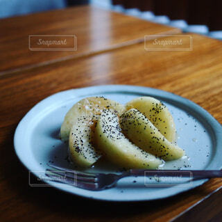 桃のアールグレイマリネの写真・画像素材[1396410]