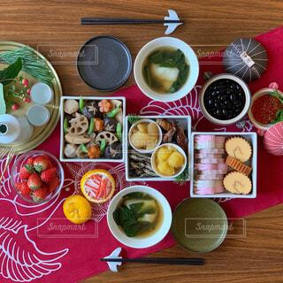 お正月の食卓の写真・画像素材[1755500]