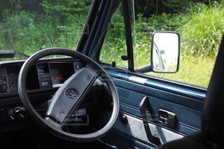 車のサイドミラー ビューの写真・画像素材[1691770]