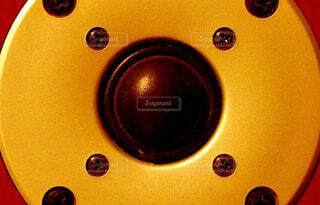 スピーカーのアップの写真・画像素材[1692128]