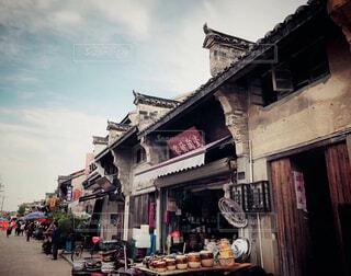 中国昔風の町、市場の写真・画像素材[1694138]