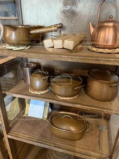 ストーブの上に鍋の写真・画像素材[3135529]