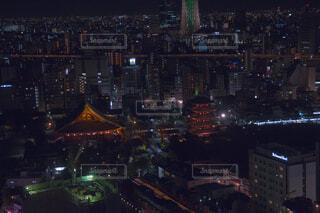 浅草ビューホテルからの夜景の写真・画像素材[1694853]