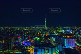 浅草ビューホテルからの夜景の写真・画像素材[1694857]
