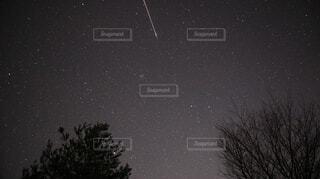 流星群と元旦の星空下での写真・画像素材[1698157]
