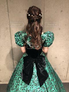 緑色のドレスの写真・画像素材[1705077]