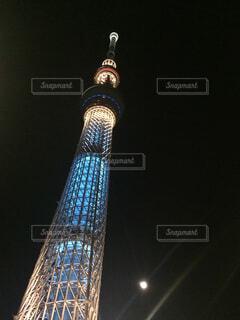 夜の東京スカイツリーの写真・画像素材[1699018]