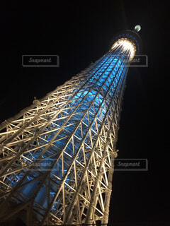 夜の東京スカイツリーの写真・画像素材[1699019]