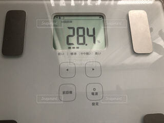 体脂肪率28.4の写真・画像素材[1822305]