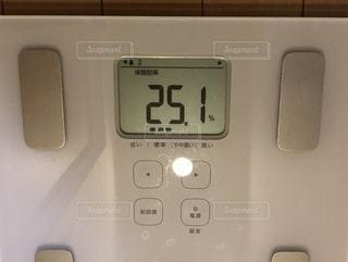 体脂肪率25.1の写真・画像素材[3482376]