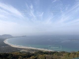 山から見た海 水平線の写真・画像素材[1700351]