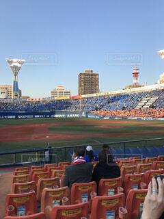 横浜スタジアム 試合前の写真・画像素材[1700179]