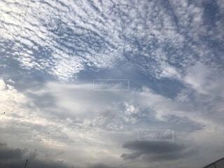 空の雲のクローズアップの写真・画像素材[4512387]