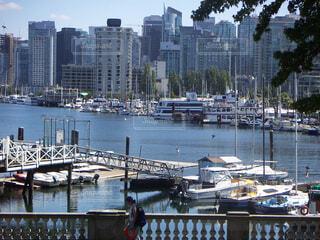 スタンレーパークからの港の眺め@カナダ バンクーバーの写真・画像素材[1703216]