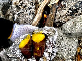 焼き芋!ホクホクの写真・画像素材[1708638]