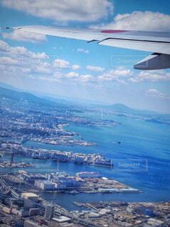 空から見た福岡の街並みの写真・画像素材[1716570]