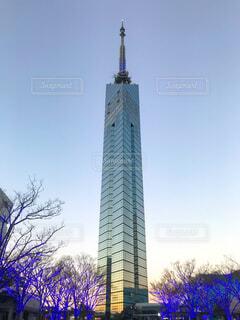 冬の福岡タワーの写真・画像素材[1745273]