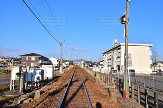 岐阜県の美濃太田駅付近の線路の写真・画像素材[2062631]