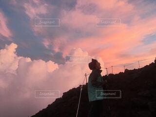 富士山登山途中の写真・画像素材[1706197]