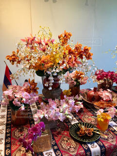 アルメニア共和国のテーブルアレンジメントの写真・画像素材[1775726]