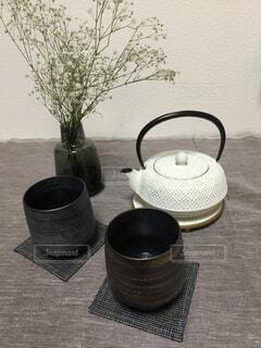 和風のテーブルセッティングの写真・画像素材[1706964]
