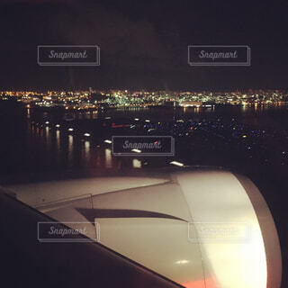 夜の街の景色の写真・画像素材[1714276]