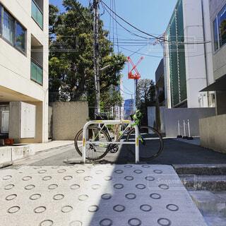 都内を自転車での写真・画像素材[2044256]