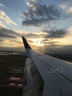 着陸の写真・画像素材[1713331]