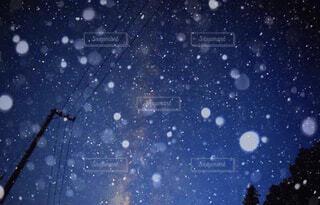 星雪の写真・画像素材[1713077]