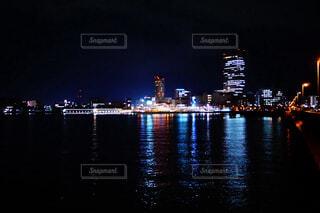 夜の港町の写真・画像素材[1713899]