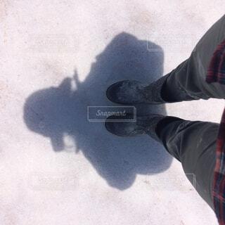 塩で長靴が真っ白にの写真・画像素材[1714144]