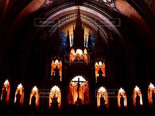 夜の教会の写真・画像素材[1714447]